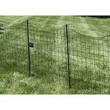 41in Semi Permanent Black Metal Garden Fence Gate Walmart Com Walmart Com