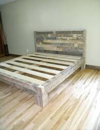 bed frame cal king luxury pallet plans