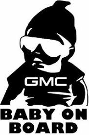 6 Gmc Buick Lincoln Baby On Board Vinyl Car Window Decal Sticker Buy2get1free Ebay