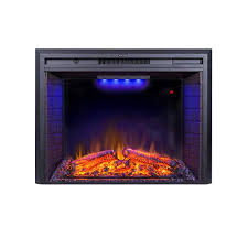 electric fireplace inserts with logs