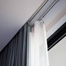curtain poles track blinds