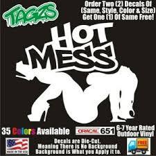 Bbw Sexy Girl Hot Mess Diecut Vinyl Window Decal Sticker Car Truck Suv Jdm Ebay