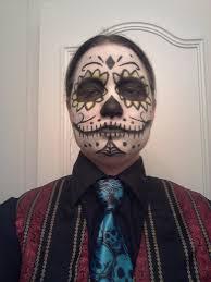 dia de los muertos skull paint for men