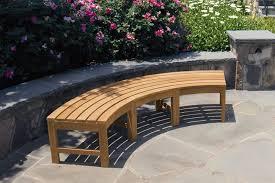 curved outdoor bench outdoor garden