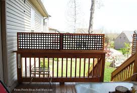 A Lattice Privacy Fence Made From Vinyl Lattice Panels Vinyl Lattice Panels Lattice Privacy Fence Outdoor Deck Decorating