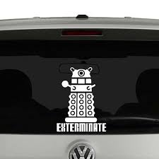Doctor Who Dalek Exterminate Vinyl Decal Sticker Car Window Doctor Who Dalek Vinyl Decals Vinyl Decal Stickers