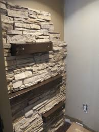 faux stone accent walls