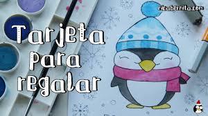 Como Dibujar Un Pinguino Kawaii Dibujo Original Para Tarjetas De
