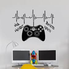 My Heart Xbox 360 Controller Gampad Wall Art Decal Sticker Picture Poster Cheap Decals For Walls Cheap Removable Wall Decals From Joystickers 11 67 Dhgate Com