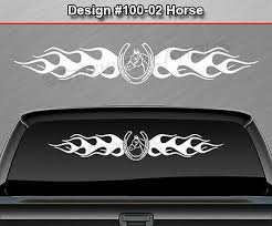 116 01 Horseshoe Windshield Decal Window Sticker Graphic Tribal Horse Shoe Car