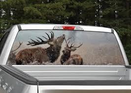 Elk In Snow Rear Window Graphic Miller Graphics