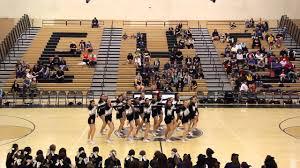 Enochs High School Cheer Varsity Senior Night Halftime 2014 - YouTube
