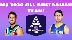 My 2020 All Australian Team - YouTube
