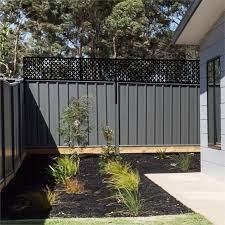 Matrix 2400 X 600mm Charcoal Sahara Fence Extension Bunnings Warehouse