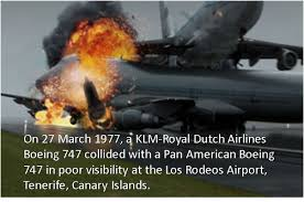 Image result for two Boeing 747 jumbo jets collided on a runway at Los Rodeos airport,