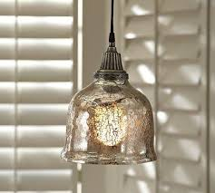 serena antique mercury glass pendant