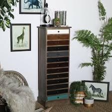 vintage mirrored glass storage cabinet
