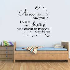 As Soon As I Saw You Winnie The Pooh Quote Vinyl Wall Decal Home Decor Bedroom Kid Room Art Mural Wall Stickers Wall Sticker Winnie Pooh Quotesvinyl Wall Decals Aliexpress