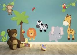 Jungle Theme Kids Wall Decals Jungle Kids Wall Stickers Etsy