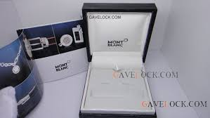 deluxe montblanc cufflinks box with