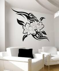 Vinyl Wall Decal Sticker Tribal Flowers Os Aa250 Vinyl Wall Decals Wall Paint Designs Wall Decals