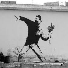 Banksy Sticker On Clear Vinyl Decal Rage Flower Thrower Street Art Graffiti Car