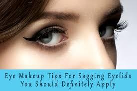 eye makeup for drooping eyelids cat