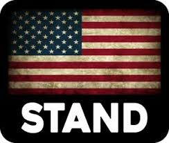 Trump Support Stand For American Flag Usa Maga Decal Bumper Sticker Political Ebay