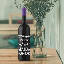 Amazon Com Vinyl Wall Art Decal Will You Be My Maid Of Honor 5 X 4 Trendy Inspirational Cute Happiness Quote Sticker For Wine Bottle Party Family Reunion Decor Arts