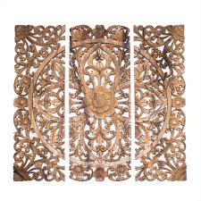wooden wall panel decor hand carved