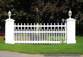 Picket Fence Section Photo Picture Definition At Photo Dictionary Picket Fence Section Word And Phrase Defined By Its Image In Jpg Jpeg In English