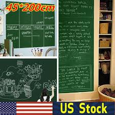 Bradex Back To School Removable Chalk Wall Sticker Chalkboard Contact Paper With For Sale Online Ebay