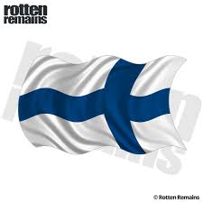 Finland Waving Flag Decal Finnish Nordic Car Window Vinyl Sticker Lh Rotten Remains High Quality Stickers Decals
