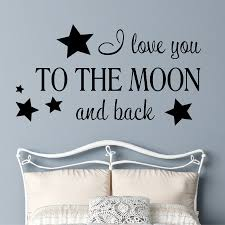 Home Wall Decal I Love You To The Moon Romantic Quote