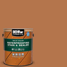 Behr Premium 1 Gal Sc 533 Cedar Naturaltone Solid Color Waterproofing Exterior Wood Stain And Sealer 5053301 The Home Depot