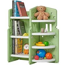 Amazon Com Albott Kids Toy Storage Organizer 3 Layer Children Book Shelves 4 Tier Corner Rack For Girls And Boys In Bedroom Playroom Living Room Baby