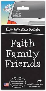 Amazon Com The Peel People Car Window Decal Car Wash Safe Auto Sticker Faith Family Friends Home Kitchen