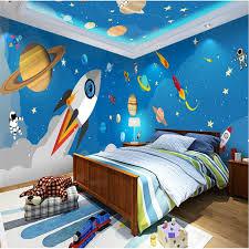 Beibehang Custom 3d Wall Paper Murals Living Room Bedroom Children Room Rocket Cartoon Hand Painted Blue Space Home Decor Paper Mural Wall Paper Mural3d Wall Paper Aliexpress