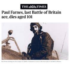 Image result for Paul Farnes, Last R.A.F. Ace of Battle of Britain