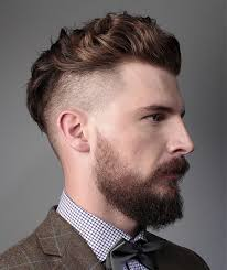 men s haircut shaved sides