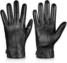 genuine sheepskin leather gloves for