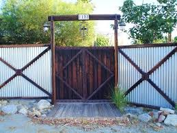 Pin By My Info On Home 2 Exteriors Corrugated Metal Fence Fence Design Backyard Fences