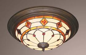 flush ceiling light tiffany