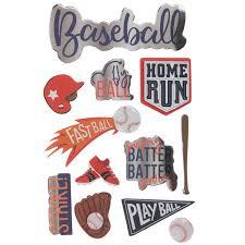 Baseball 3d Stickers Hobby Lobby 1884014
