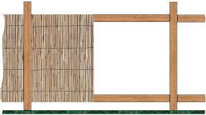 Bamboo Fencing Rolled Split Bamboo Tiki Shack Importer