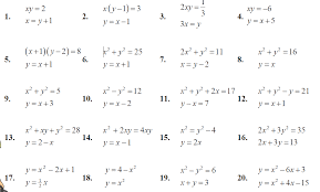 simultaneous equations with a quadratic