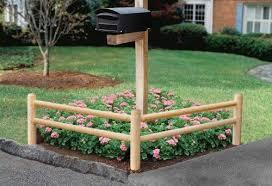 Amazon Com Ez Trim Fence Post And Rail System Corner Section Outdoor Decorative Fences Patio Lawn Garden Low Garden Beds Mailbox Garden Front Yard