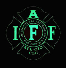 Amazon Com Glow In The Dark 4 Iaff Union Vinyl Firefighter American Made Window Decal Everything Else