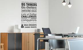 This Work Space Has Big Thinkers Wall Decal Office Wall Quote Business Vinyl Lettering Custom Color Choice O 102 Vinyl Wall Expressions
