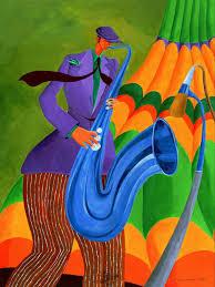 Ivey Hayes   Colorful art, Jazz music art, Jazz art